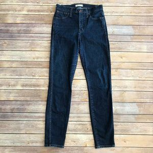 Madewell 10 Inch High Rise Skinny Jeans in Lucille Dark Wash